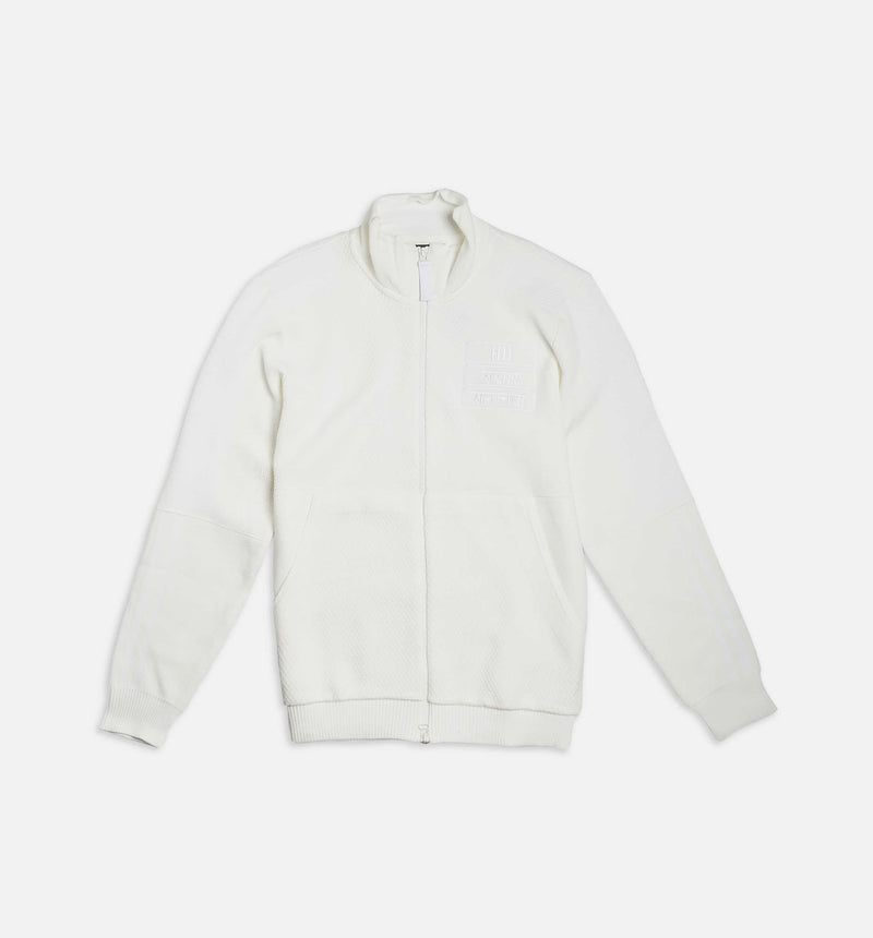 PHARRELL WILLIAMS  X ADIDAS HU TRAIL HOLI MENS TRACK JACKET - WHITE/WHITE