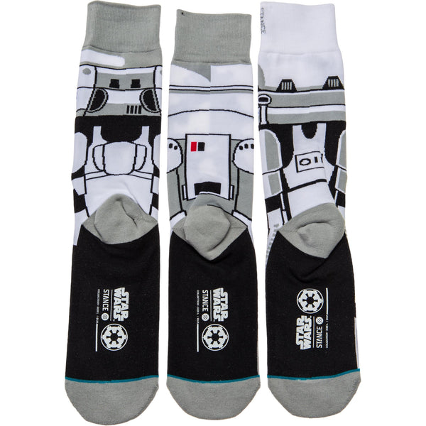 STANCE STAR WARS TROOPER CREW SOCKS - GREY