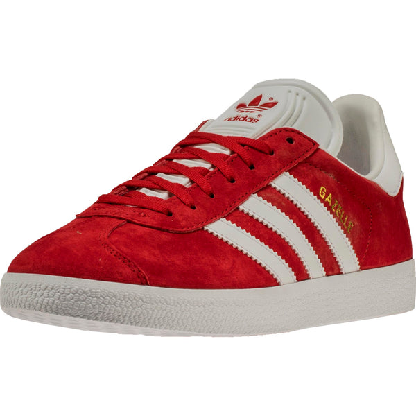 ADIDAS GAZELLE MEN'S - SCARLET/RUNNING WHITE FTW/GOLD METALLIC