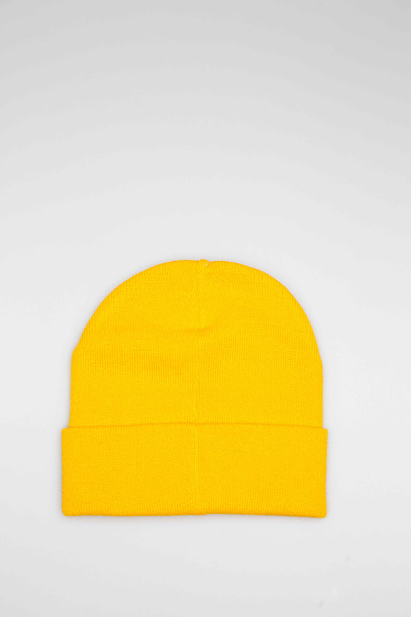ICE CREAM KNIT HAT - YELLOW/YELLOW