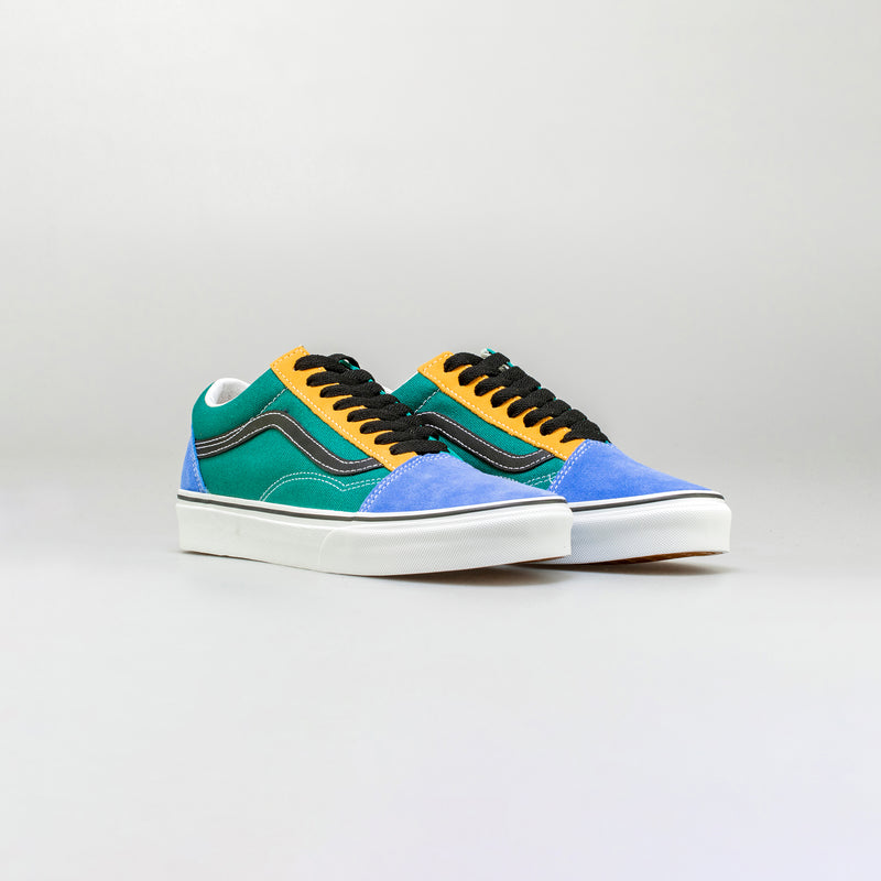 MIX & MATCH OLD SKOOL MENS LIFESTYLE SHOE - YELLOW/BLUE/GREEN