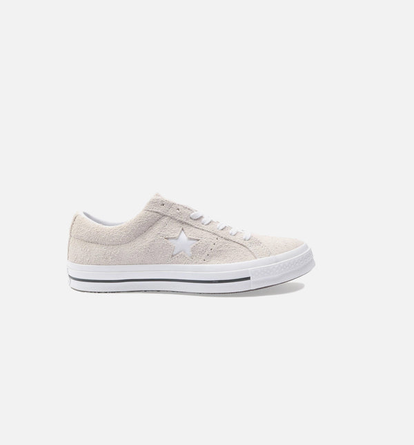 ONE STAR OX LOW SUEDE MENS SHOES - WHITE/WHITE