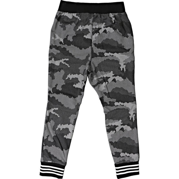 Adidas Low Crotch Print Tech Sweatpants - Black/White Camo