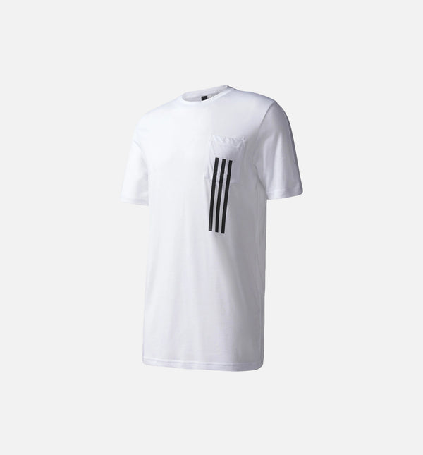 ADIDAS ID 3-STRIPES POCKET TEE MEN'S - WHITE/BLACK