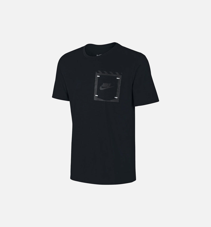 Nike Tech Bonded Box Pocket Tee (Mens) - Black/Anthracite