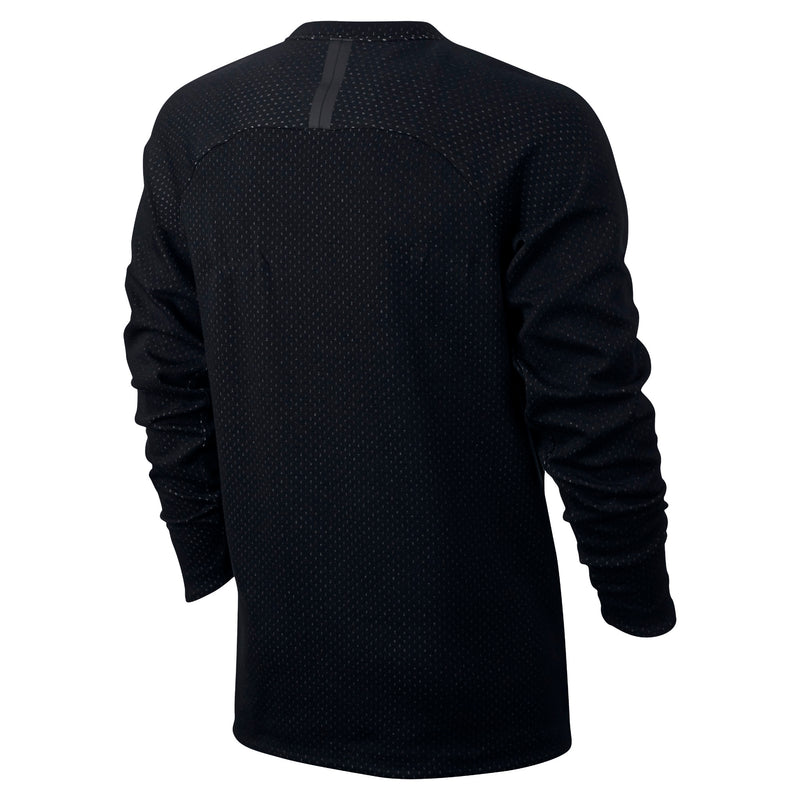 NIKE TECH FLEECE ZIP CREW SWEATER MENS - BLACK