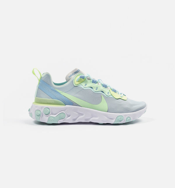 NIKE REACT ELEMENT 55 WOMENS LIFESTYLE SHOE - WHITE/FROSTED SPRUCE-BARELY VOLT