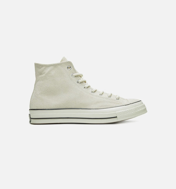 CHUCK 70 SUEDE HIGH MENS SHOE - CREAM/BLACK
