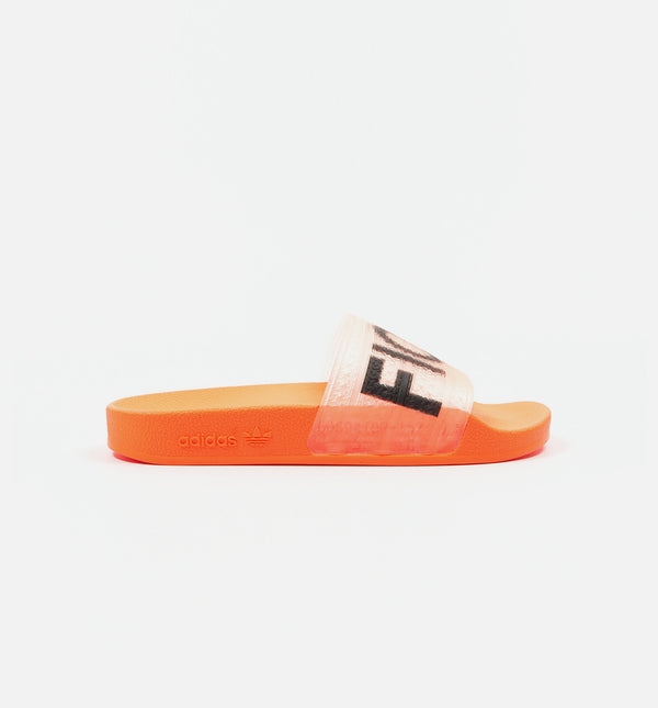 ADIDAS X FIORUCCI ADILETTE WOMENS SLIDES - SOLAR ORANGE/SOLAR GOLD/BLACK/RED