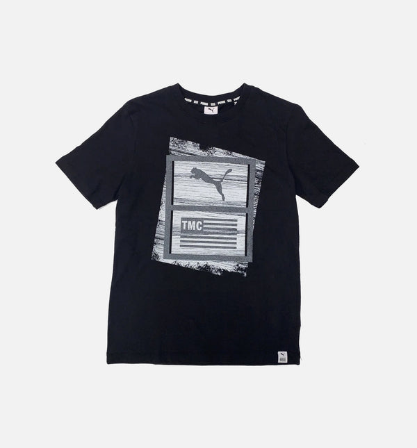 PUMA X TMC HUSSLE MENS T-SHIRT - BLACK/WHITE