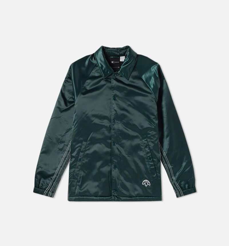 ALEXANDER WANG x ADIDAS COLLECTION AW COACH MENS JACKET - GREEN/BLACK