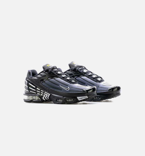 AIR MAX PLUS III MENS LIFESTYLE SHOE - BLACK/WHITE/GREY
