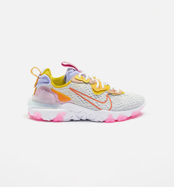 REACT VISION WOMENS RUNNING SHOE - PURE PLATINUM/LIGHT THISTLE/SAFFRON QUARTZ/RUST FACTOR