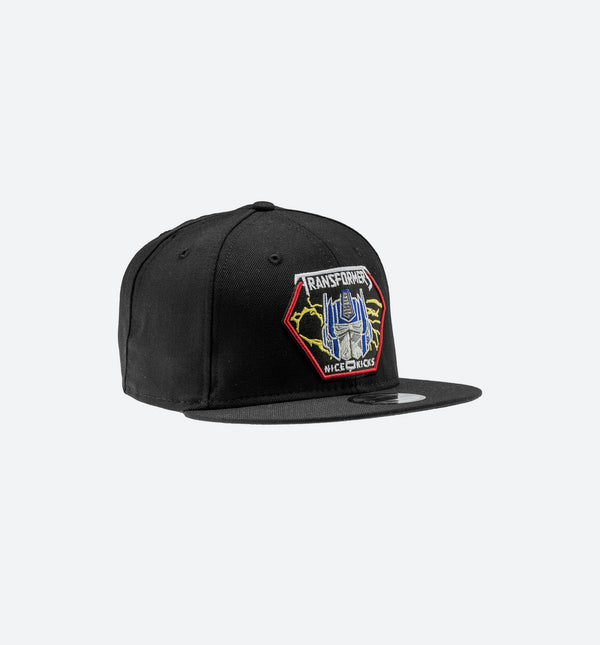 NEW ERA OPTIMUS PRIME MENS SNAPBACK HAT - BLACK
