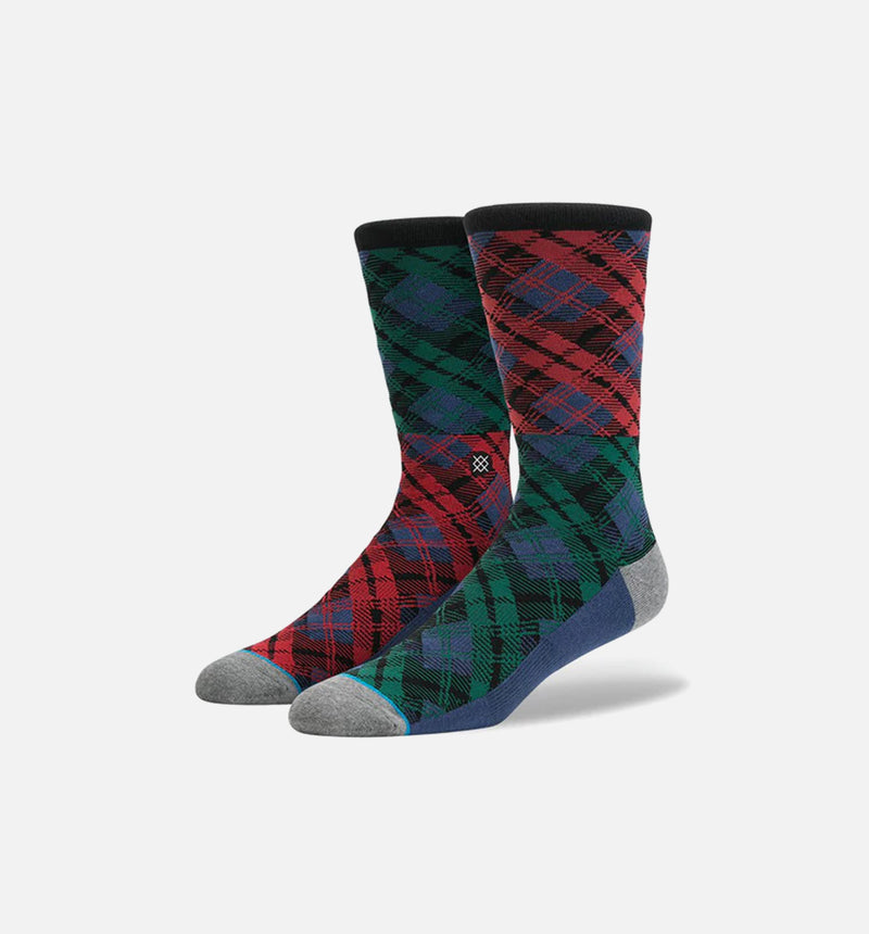 Stance Placid Socks (Mens) - Blue Plaid