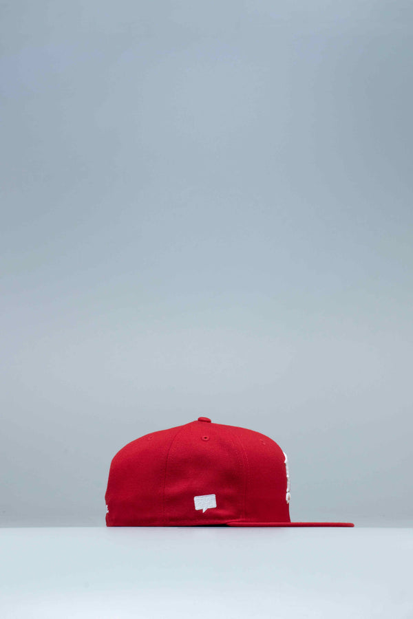 NICE KICKS X NEW ERA FITTED MENS HAT - RED/WHITE