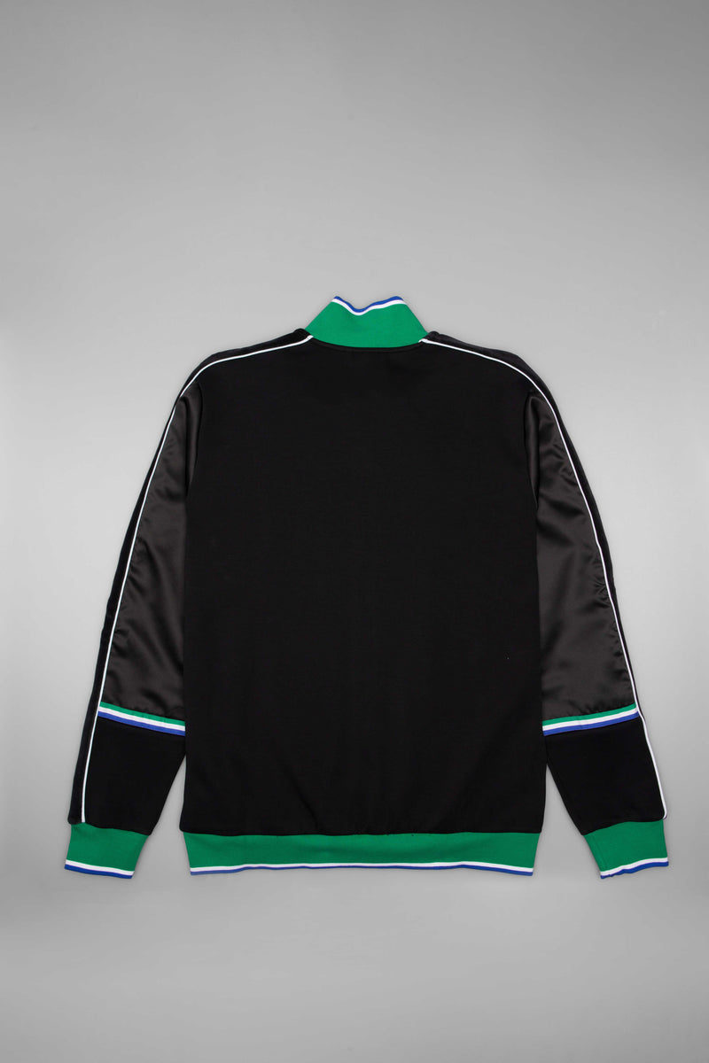 PUMA X BIG SEAN COLLECTION MENS T7 TRACKSUIT TOP - PUMA BLACK/GREEN