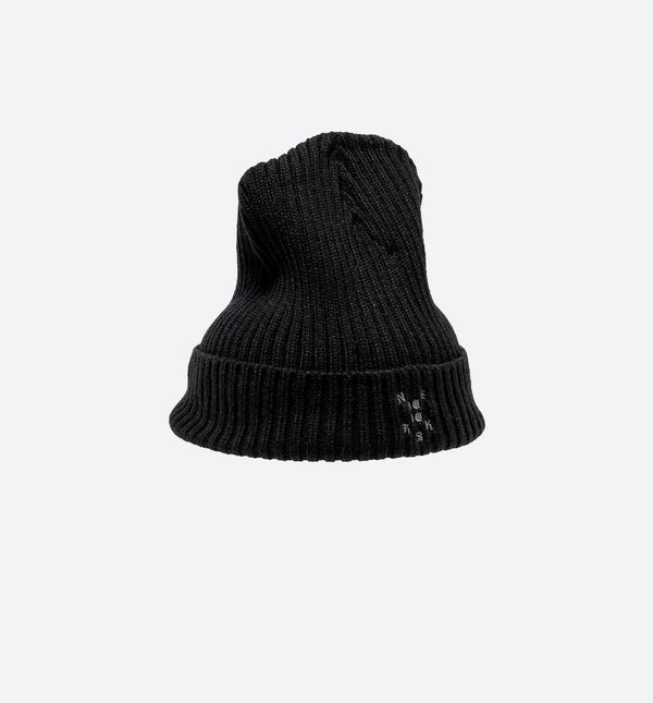 NICE KICKS PABLO CABLE BEANIE - BLACK