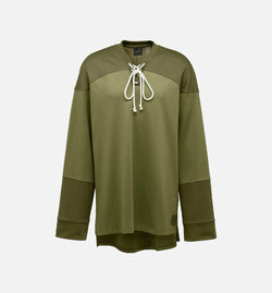 PUMA RIHANNA FENTY HOCKEY TEE WITH FRONT LACING MEN'S - OLIVE BRANCH