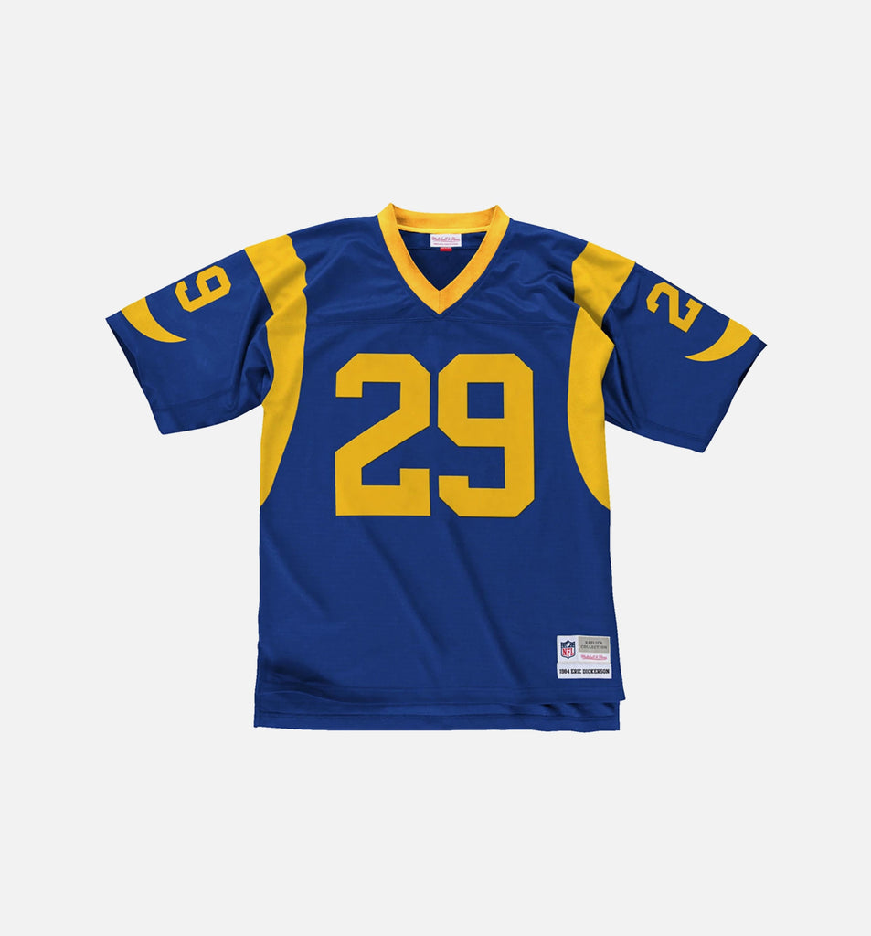 MITCHELL AND NESS REPLICA COLLECTION LOS ANGELES RAMS NFL ERIC DICKERSON JERSEY - ROYAL BLUE/YELLOW