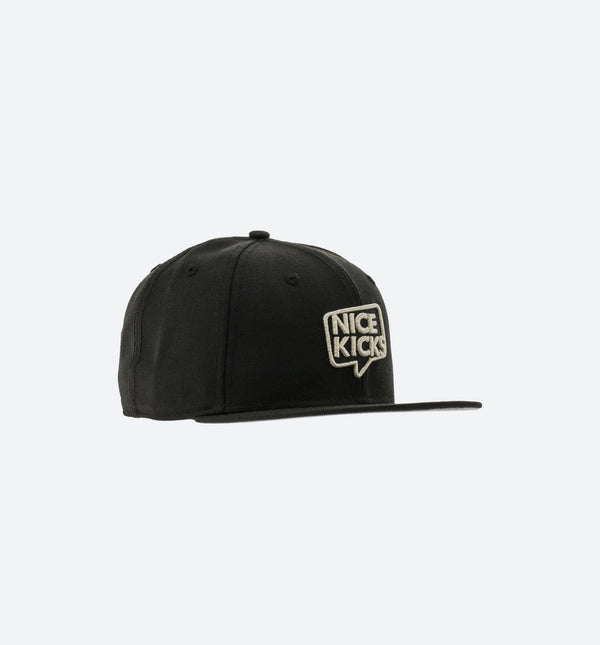 NEW ERA X NICE KICKS 9FIFTY SNAPBACK HAT - BLACK/SILVER