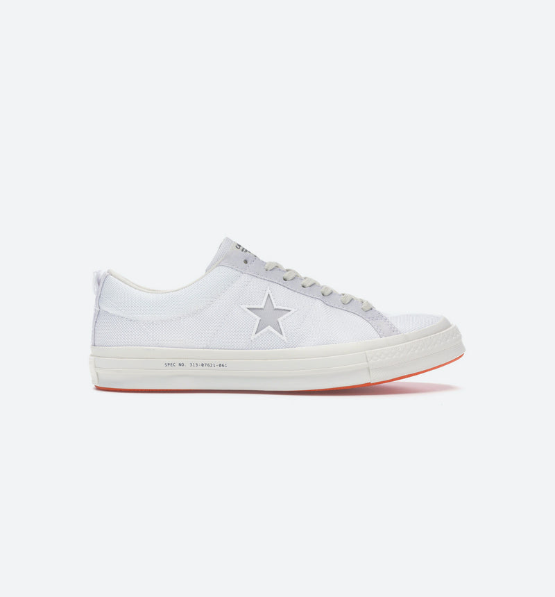 CONVERSE ONE STAR X CARHARTT MENS SHOES - WHITE/WHITE