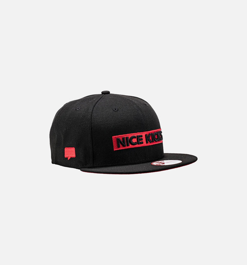Nice Kicks x New Era Snapback Hat - Black/Red