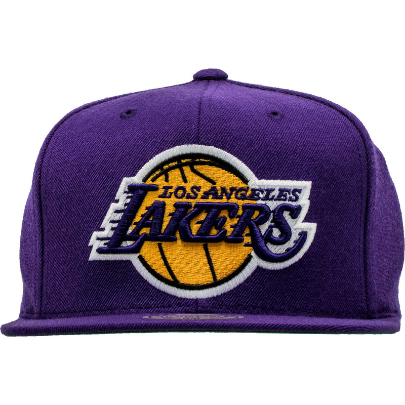 MITCHELL AND NESS LOS ANGELES LAKERS NBA SNAPBACK HAT MEN'S - PURPLE/YELLOW