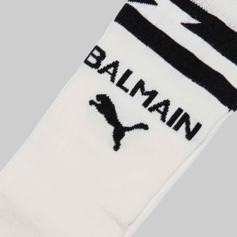 BALMAIN X PUMA WOMENS KNEEHIGH SOCKS - WHITE