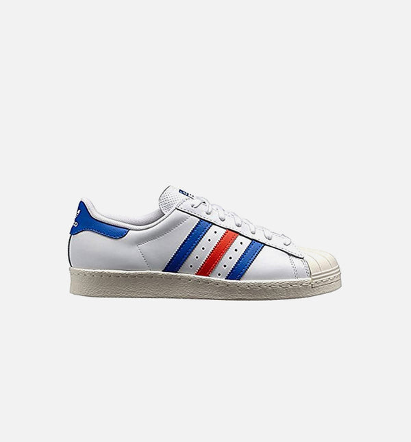 SUPERSTAR 80S MENS LIFESTYLE SHOE - WHITE/BLUE/RED