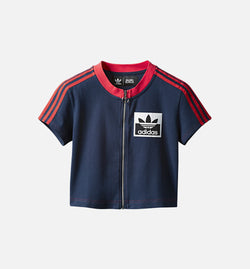 OLIVIA OBLANC X ADIDAS X KENDALL JENNER WOMENS CROP TOP - NAVY/RED