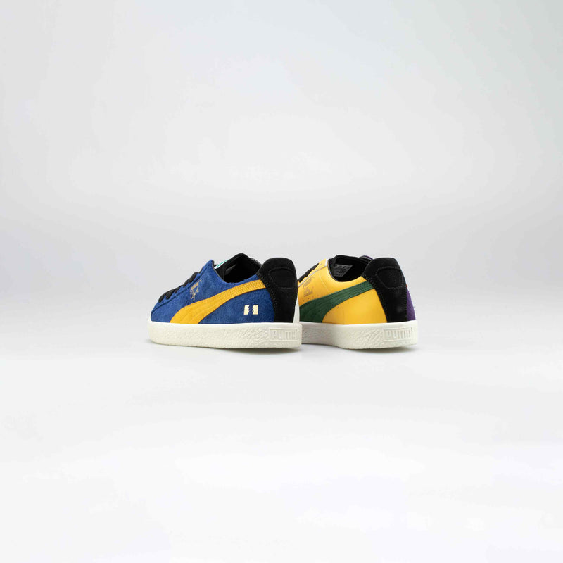 CLYDE X THE HUNDREDS MENS LIFESTYLE SHOE - BLUE/YELLOW