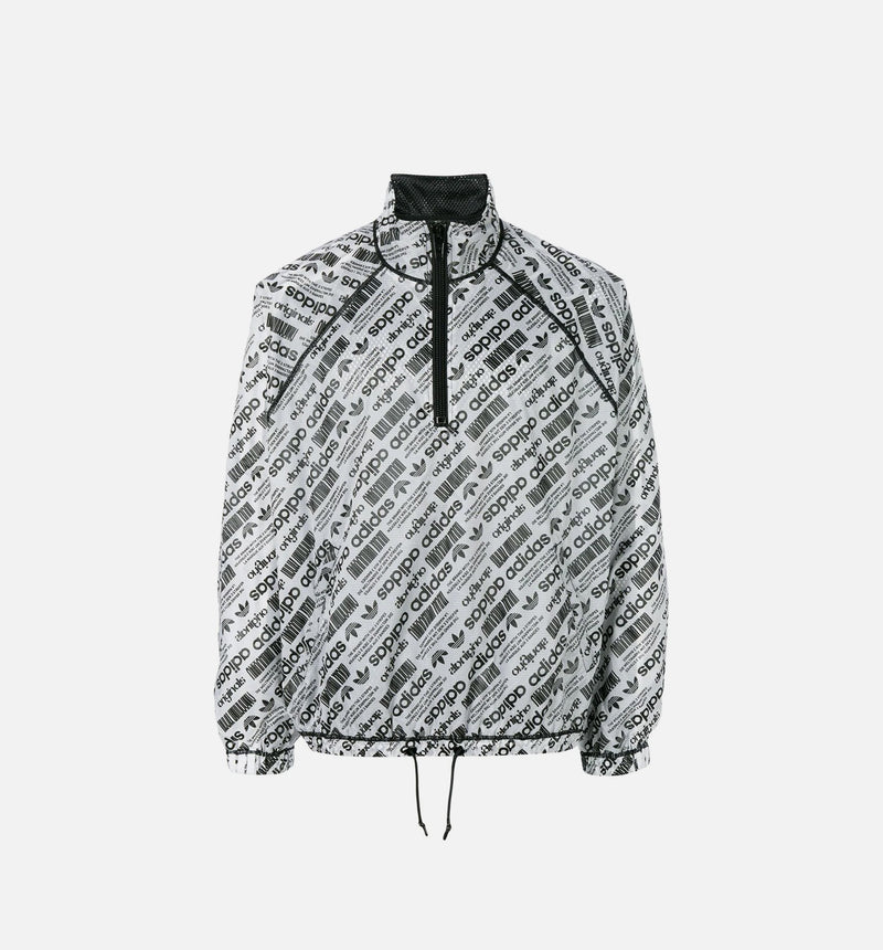 ALEXANDER WANG COLLECTION MENS WINDBREAKER - WHITE/BLACK