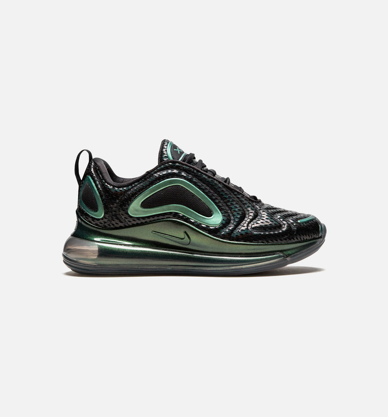 AIR MAX 720 RETRO WOMENS SHOES - BLACK/METALLIC SILVER