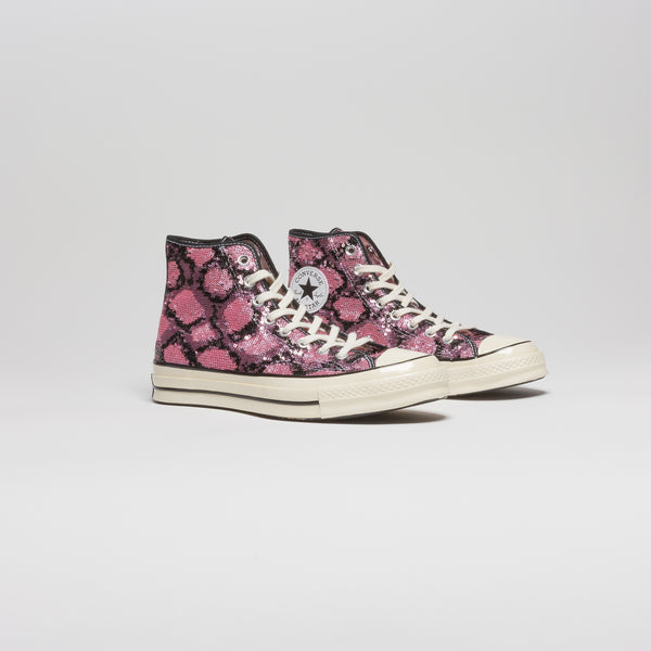 CHUCK TAYLOR ALL STAR SEQUIN HIGH TOP MENS LIFESTYLE SHOE - BLACK/PINK
