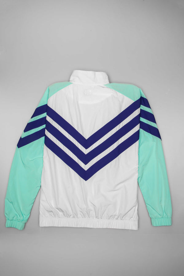 ADIDAS CONSORTIUM X NICE KICKS MENS TRACK JACKET - WHITE/TEAL/PURPLE