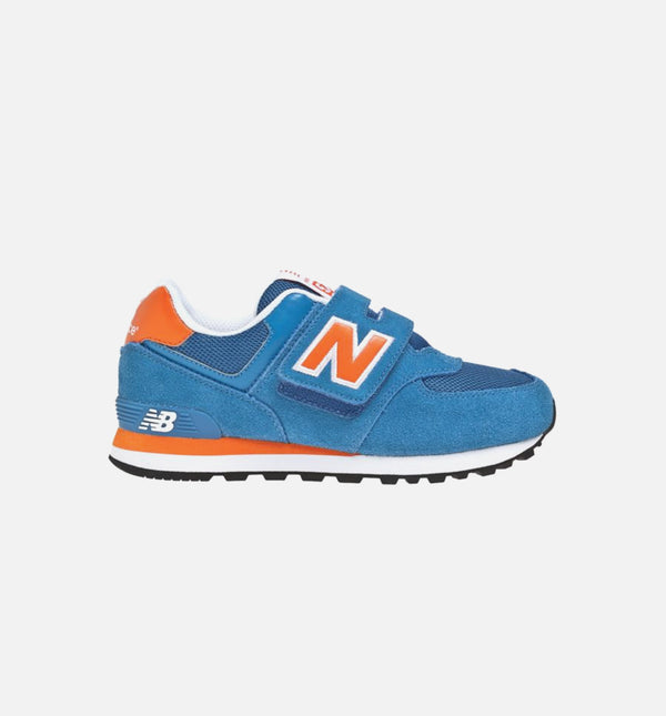 574 PRESCHOOL LIFESTYLE SHOE - BLUE/ORANGE