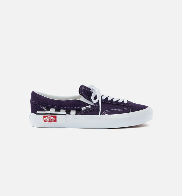 SLIP ON CAP CHECK MENS SHOE - MYSTERIOSO PURPLE/TRUE WHITE