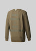 WHITE MOUNTAINEERING COLLECTION MENS CREW SWEATSHIRT - OLIVE/OLIVE