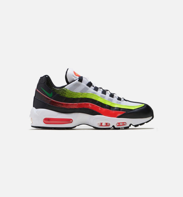 AIR MAX 95 SE MENS SHOES - BLACK/WHITE/VOLT/SOLAR RED
