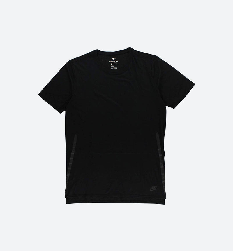 NIKE BONDED DROPTAIL TEE MEN'S - BLACK