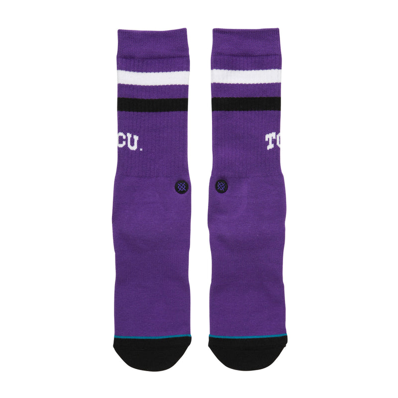 STANCE TCU LOGO CREW SOCKS - PURPLE