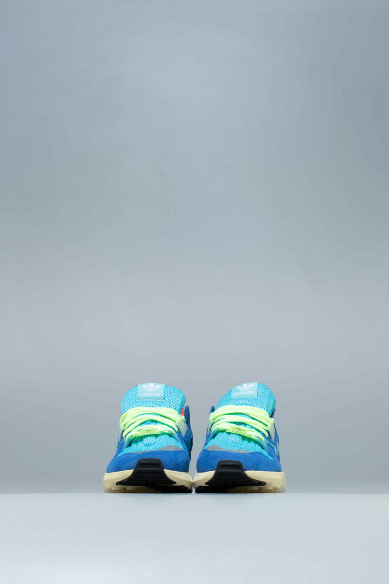 ZX TORSION MENS LIFESTYLE SHOE - BRIGHT CYAN/LINEN GREEN/BLUE