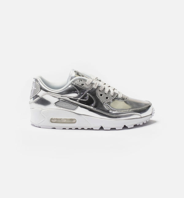 AIR MAX 90 WOMENS RUNNING SHOE - PLATINUM/SILVER/LIGHT GREY