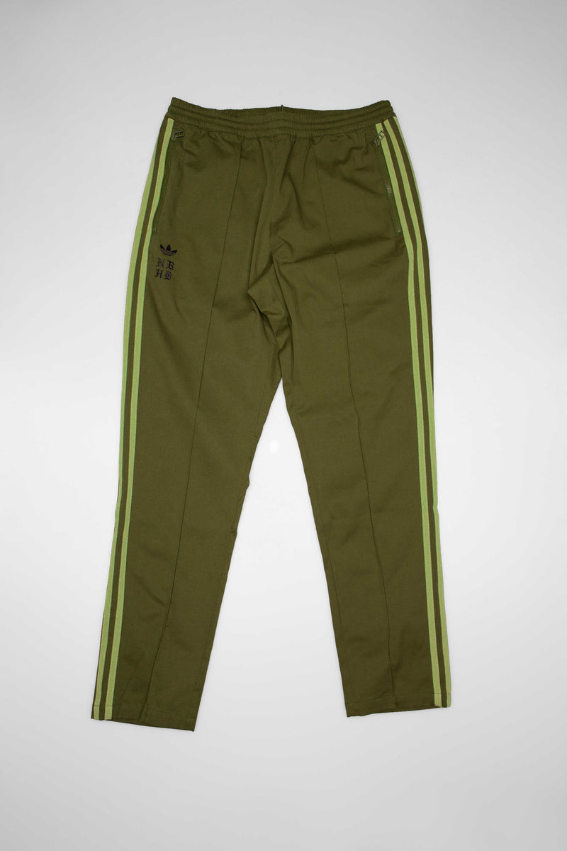 ADIDAS X NEIGHBORHOOD COLLECTION MENS TRACK PANTS - OLIVE GREEN/WHITE