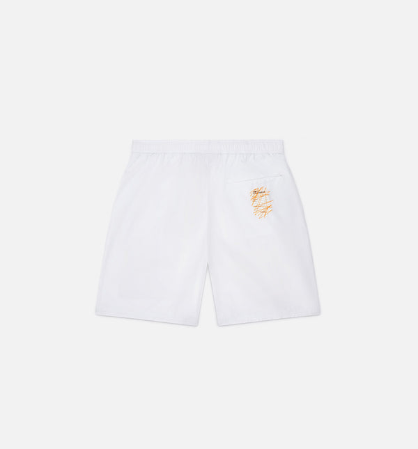 ROKIT MENS BAGGIE SHORTS - WHITE/BLUE/ORANGE/BLACK