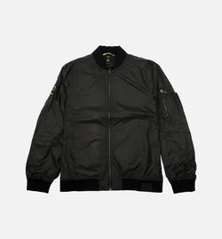 THE WEEKND COLLECTION XO MENS NYLON BOMBER JACKET - BLACK/BLACK