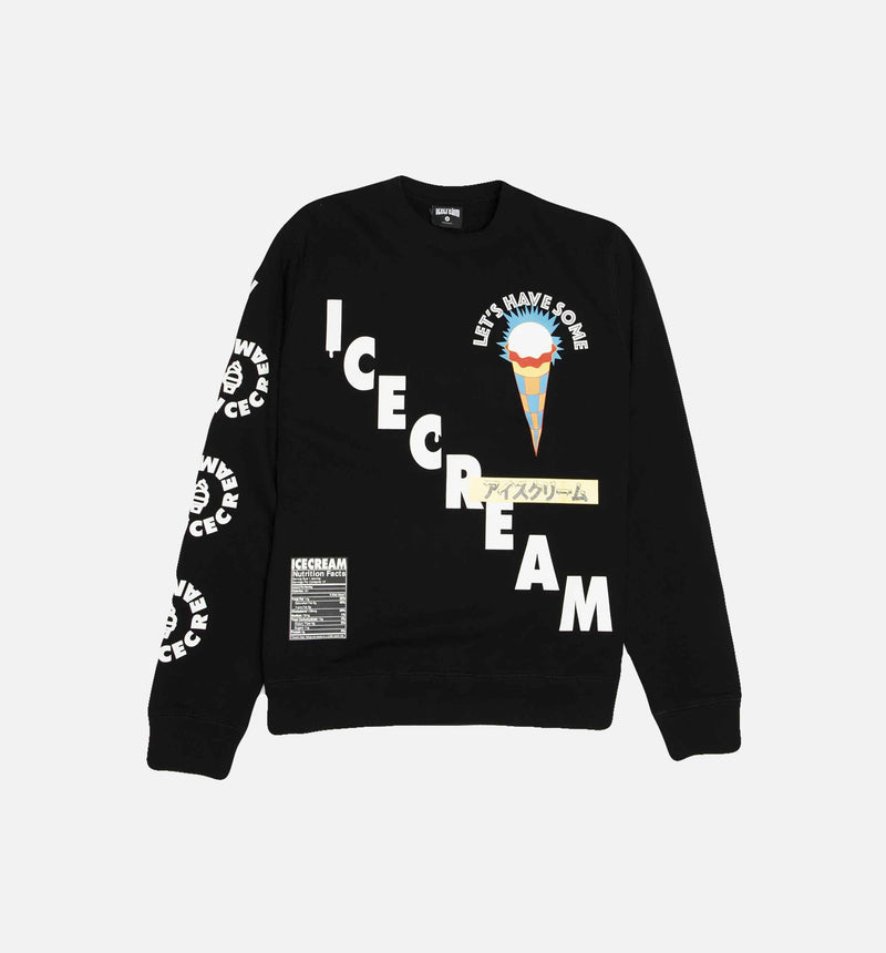 ICE CREAM LETS GET SOME MENS CREWNECK - BLACK/WHITE/YELLOW/BLUE/RED