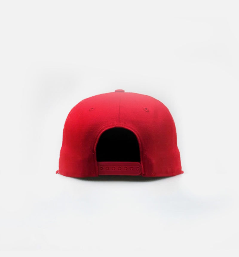 NICE KICKS BOX LOGO SNAPBACK HAT - RED/WHITE