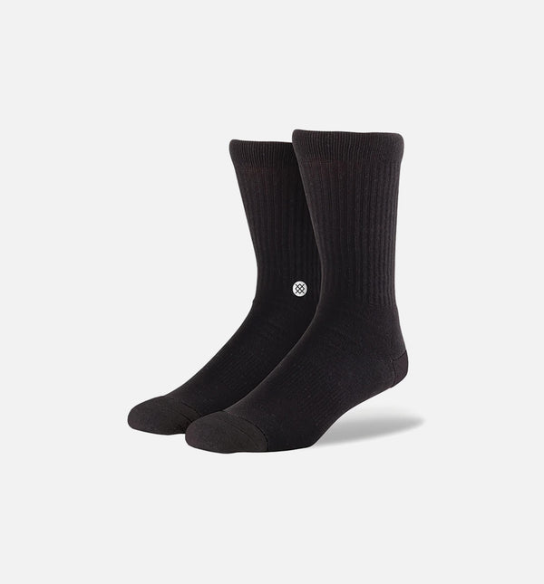 STANCE ICON CLASSIC CREW SOCKS MEN'S - BLACK/WHITE